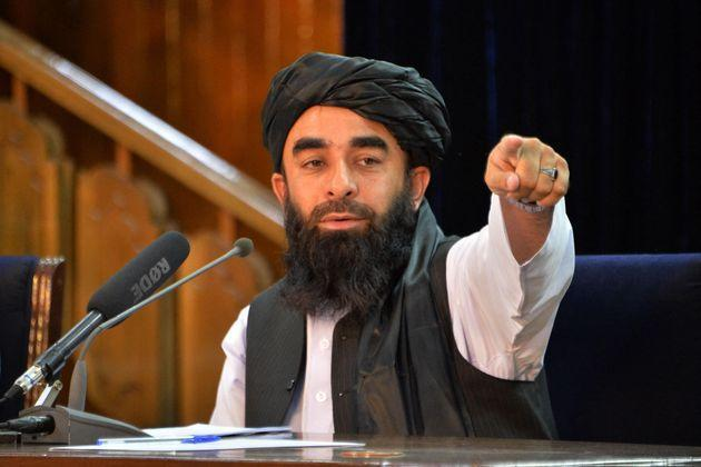 Taliban spokesperson Zabihullah Mujahid held a press conference in Kabul shortly after the militants' takeover of Afghanistan (Photo: HOSHANG HASHIMI via Getty Images)