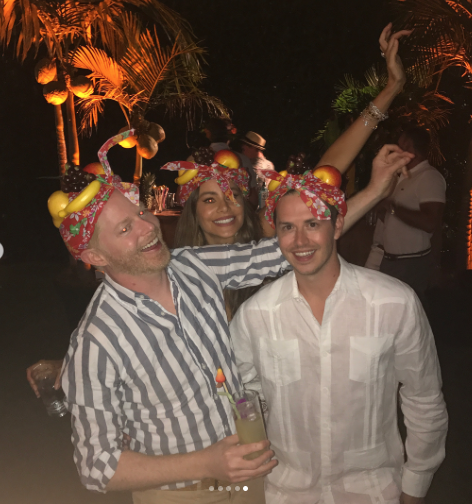 <p>It really doesn't. Vergara, Ferguson, and another pal got silly with their Carmen Miranda-inspired hats. If the party was half as fun as it looked, it was the best party ever. (Photo: Sofia Vergara via Instagram) </p>
