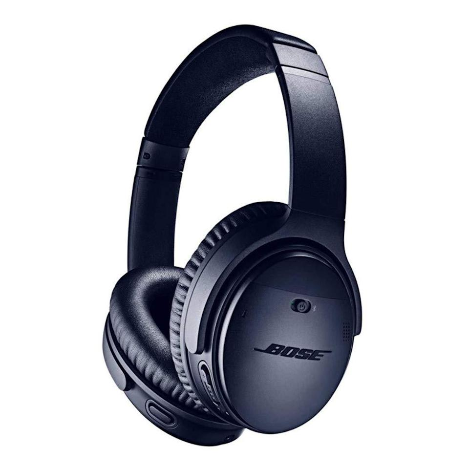 """<br><br><strong>Bose</strong> Bose QuietComfort 35 (Series II) Wireless Headphones, $, available at <a href=""""https://amzn.to/3nMt2TY"""" rel=""""nofollow noopener"""" target=""""_blank"""" data-ylk=""""slk:Amazon"""" class=""""link rapid-noclick-resp"""">Amazon</a>"""