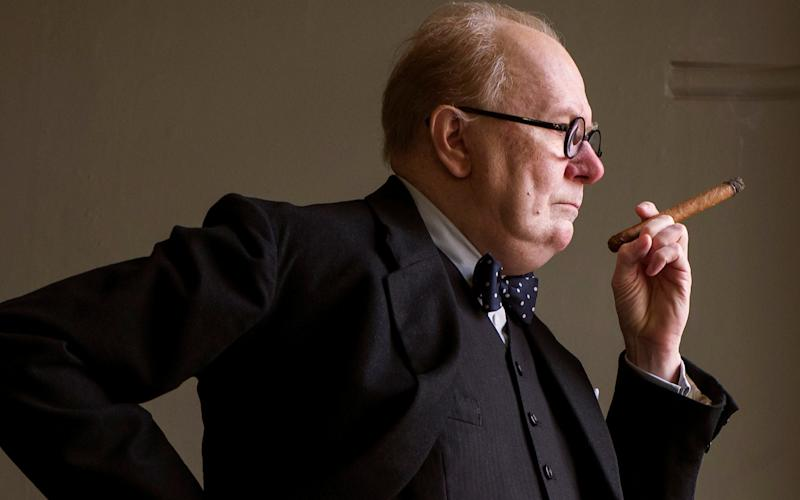 Gary Oldman as Winston Churchill in a scene from
