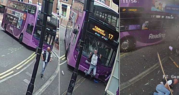 Simon Smith got up and walked away after being hit by the bus (SWNS)