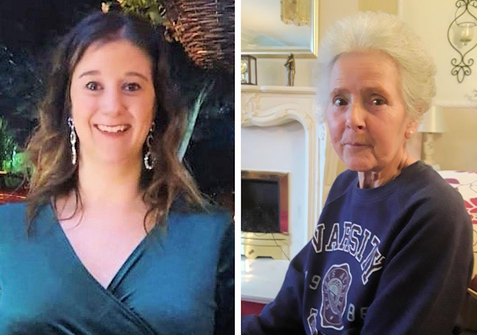 Amy Appleton, 32, (left) and Sandy Seagrave, 76, who were both killed outside a semi-detached house in a quiet street in Crawley Down on 22 December. (PA/Sussex Police)