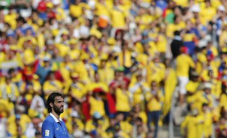 Greece's Giorgios Samaras looks on during their 2014 World Cup Group C soccer match against Colombia at the Mineirao stadium in Belo Horizonte June 14, 2014. REUTERS/Sergio Perez
