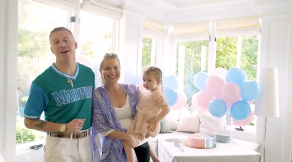 Macklemore - real name Ben Haggerty - is a doting dad of one. Source: Instagram