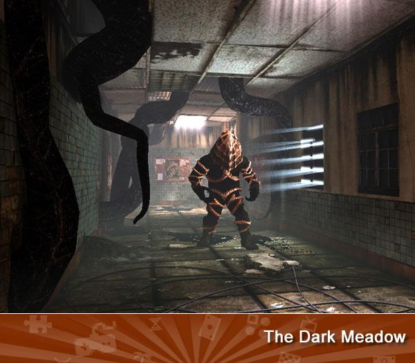 """<p class=""""MsoNormal"""">The DARK MEADOW -- You awake in a filthy sanitarium crawling with monsters. Sound troubling? It is, but this under-the-radar adventure game has gained a cult following for its beautiful graphics and terrific storytelling. </p>(<a href=""""https://search.yahoo.com/search?p=The+Dark+meadow&fr=games-flipbook&ygmasrchbtn=Web+Searchcs=bz?"""">Search</a>)"""