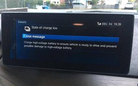 BMW i3S scary message