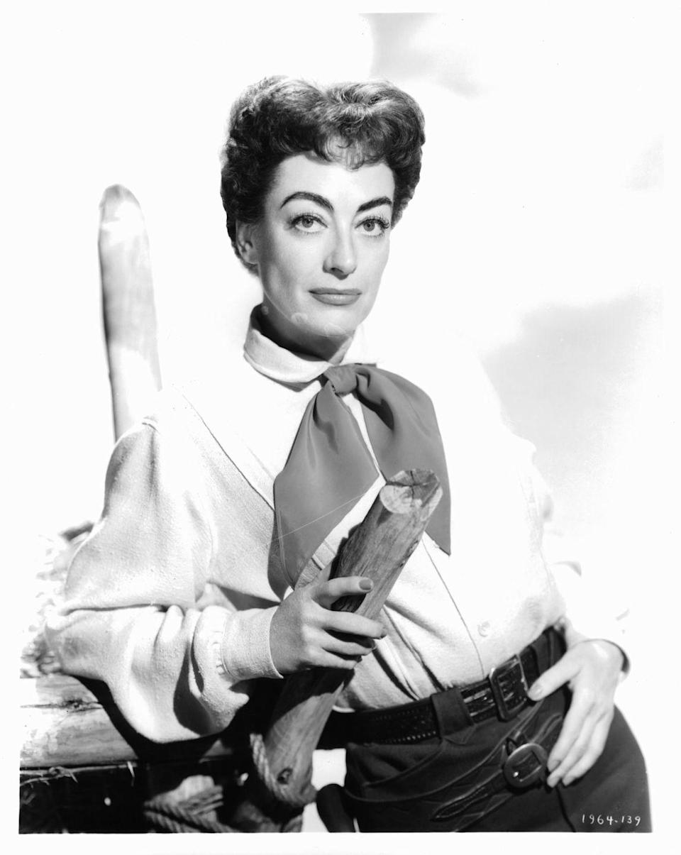 <p>The western drama<em> Johnny Guitar </em>was an unusual role for Joan. Despite negative reviews it became a cult classic. </p>