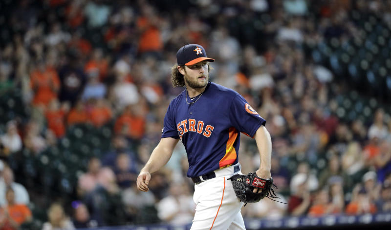 Cole's birthday gem leads Astros over M's 21-1 for sweep