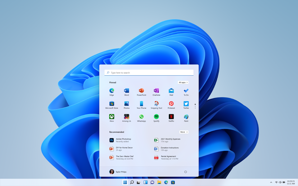 Microsoft has debuted the latest version of its Windows operating system: Windows 11. (Image: Microsoft)