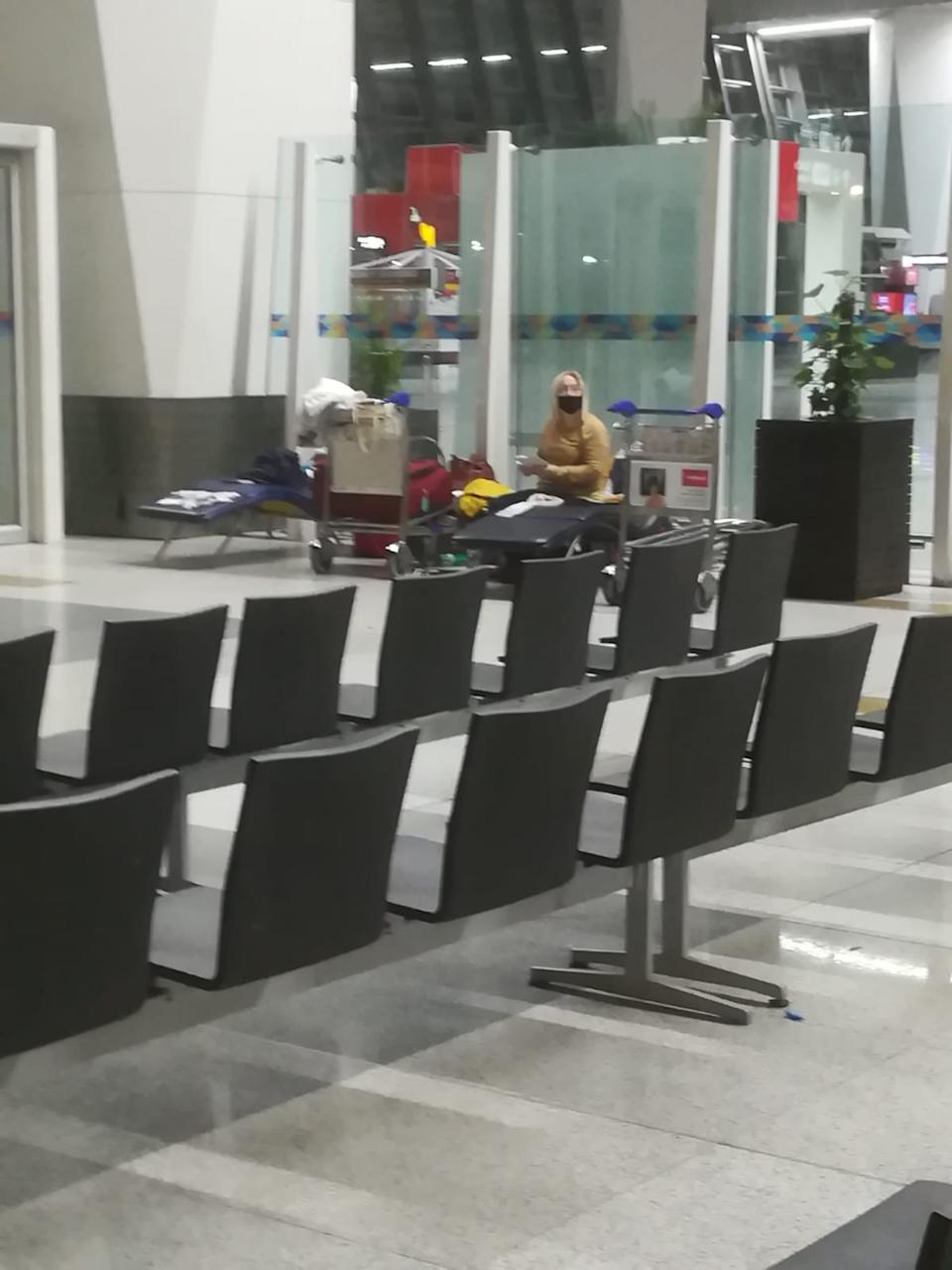 The women have seen other travellers get flights home but currently can't get back to the UK. (Picture: Diane Want)