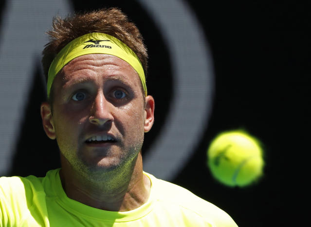Tennys Sandgren was the last American standing at the Australian Open.  (AP)