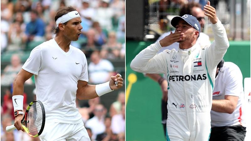 Hamilton and Nadal's record-equalling exploits – Sunday's sporting social
