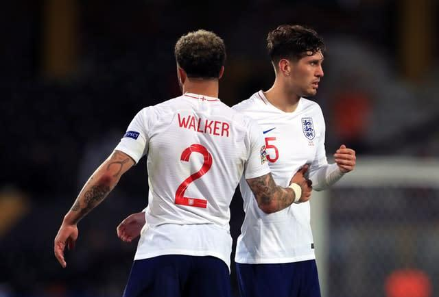 Kyle Walker and John Stones formed part of England's defence at the World Cup (Mike Egerton/PA)