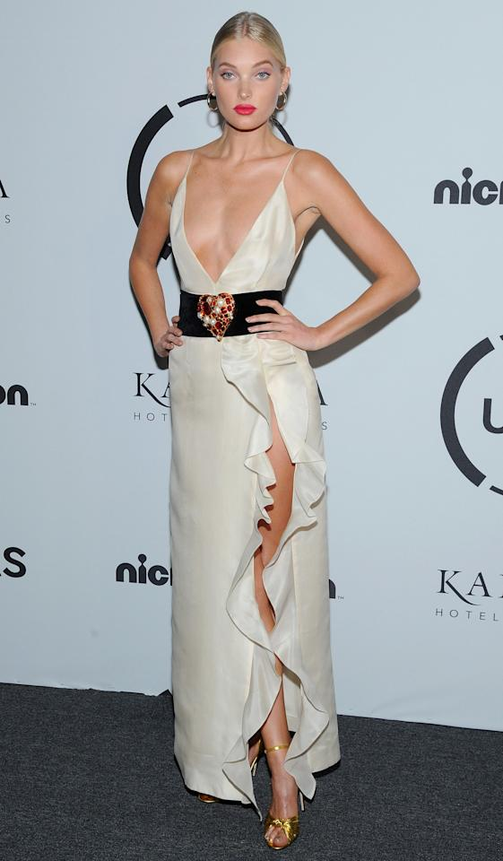 <p>Elsa Hosk attended the UNITAS Gala Against Human Trafficking during NYFW.</p>