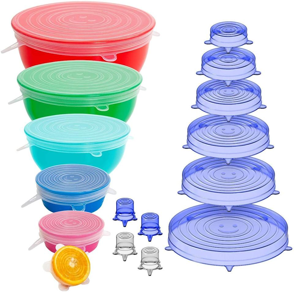 "These <a href=""https://amzn.to/37uzGH0"" target=""_blank"" rel=""noopener noreferrer"">stretch lids</a> have been popular in the past and they've become a top item once again in November. For leftovers or half a lime, these silicone covers can replace all those lids you've lost over the years. The set even includes smaller caps to put over wine, beer and soda bottles. <a href=""https://amzn.to/3mugzmR"" target=""_blank"" rel=""noopener noreferrer"">Find the set for $8 at Amazon</a>. Here's the other top-rated <a href=""https://amzn.to/3lueu9d"" target=""_blank"" rel=""noopener noreferrer"">stretch lid set</a> that's been especially popular with readers this month, too."