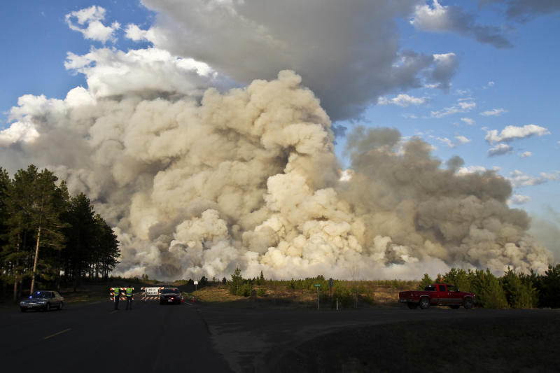 Wisconsin wildfire started by logging operations