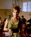 <p>Bet you didn't realize Jessica Alba was in <em>Never Been Kissed</em>. The actress played a popular girl who honestly had the best wardrobe, hair, and makeup ever, starting with this spiky updo.</p>