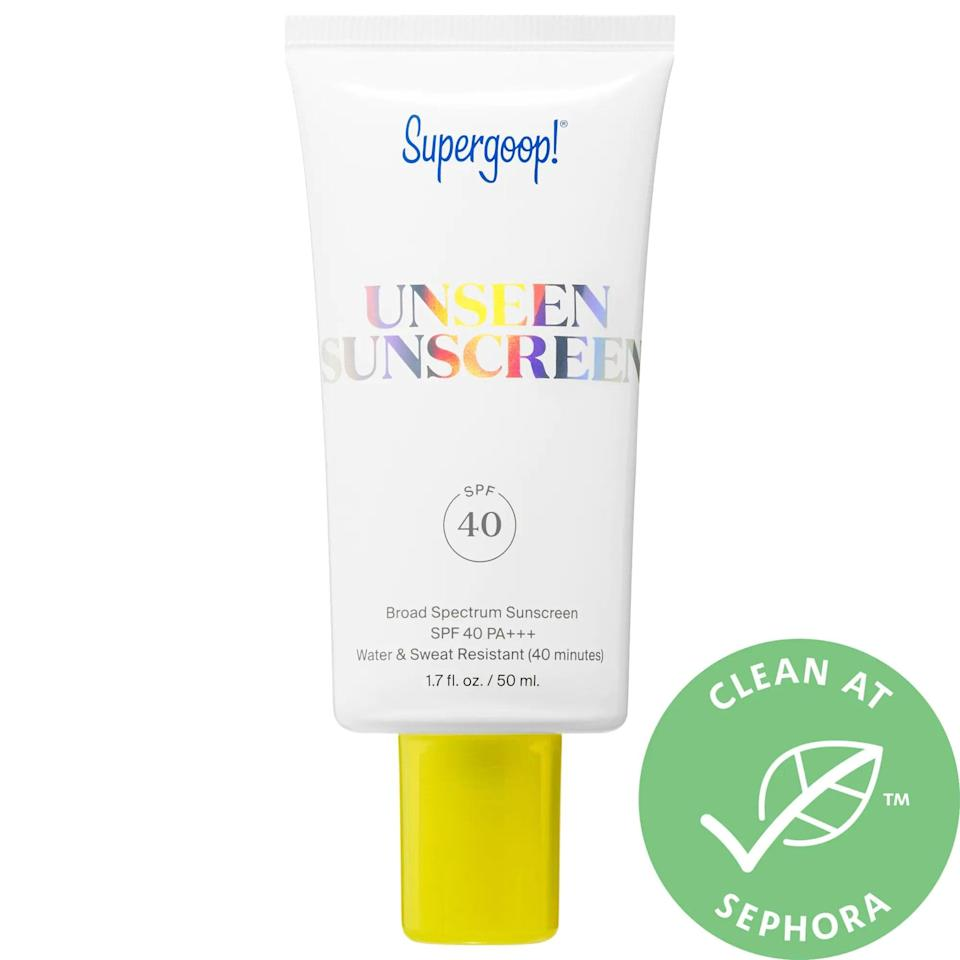 "<p>Say it with us now: SPF is a year-round necessity - even on gloomy days. While we hope facial SPF is already part of your daily beauty routine, the sun is extra unforgiving in the summer, so it's a good time to check in and make sure your bases are covered. If you're the type to opt for a pared-down beauty routine, the <a href=""https://www.popsugar.com/buy/Supergoop-Unseen-Sunscreen-536302?p_name=Supergoop%21%20Unseen%20Sunscreen&retailer=sephora.com&pid=536302&price=34&evar1=bella%3Aus&evar9=47481688&evar98=https%3A%2F%2Fwww.popsugar.com%2Fbeauty%2Fphoto-gallery%2F47481688%2Fimage%2F47481705%2FAmp-Up-Your-SPF-Use&list1=summer%20beauty%2Cbeauty%20tips&prop13=mobile&pdata=1"" rel=""nofollow noopener"" class=""link rapid-noclick-resp"" target=""_blank"" data-ylk=""slk:Supergoop! Unseen Sunscreen"">Supergoop! Unseen Sunscreen</a> ($34) is an amazing multifunctional option that will also hold your makeup in place. And when it comes to reapplying or keeping other areas protected, scalp and powder sunscreens will be your BFFs. </p>"
