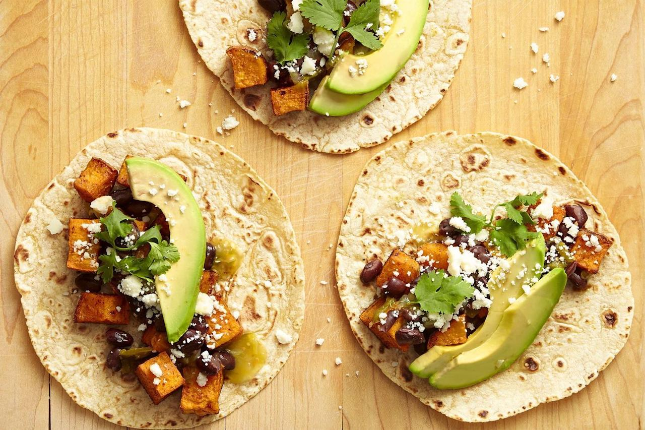 "<p>There's a world of healthy, easy black bean recipes waiting in each 15 oz. can on the shelf (even the ones that have been in your pantry for months). Opening a can of black beans is like releasing a recipe genie from its bottle — it will grant you spicy, colorful, <a href=""https://www.goodhousekeeping.com/food-recipes/g19876275/mexican-recipes/"">Mexican-inspired</a> black bean recipes, hearty, <a href=""https://www.goodhousekeeping.com/food-recipes/healthy/g807/vegan-recipes/"">can't-believe-it's-vegan recipes</a>, and <a href=""https://www.goodhousekeeping.com/easy-soup-recipes/"" target=""_blank"">variations on soup</a> that you never could have imagined. Plus, you get wayyy more than three wishes.</p><p>If you have a can of black beans in your pantry, dinner (and breakfast ... and lunch) is not far away. There's even a little something for dessert.</p><p><strong>What do you eat black beans with?</strong></p><p>If you're just not sure how to eat black beans, try adding them to meals you already love. Wraps, salads, and <a href=""https://www.goodhousekeeping.com/food-recipes/g3463/cinco-de-mayo-taco-recipes/"">tacos of any kind</a> can benefit from the smooth, creamy texture and mild taste of a black bean. If you're a vegetarian, it's a great source of plant-based protein. From black beans and rice (<a href=""https://www.goodhousekeeping.com/food-recipes/g3165/cauliflower-recipes/"">or riced cauliflower!</a>) to <a href=""https://www.goodhousekeeping.com/food-recipes/g920/chili-recipes/"">the best bean chili</a>, we've got ideas for delicious, inexpensive, complete meals.</p><p><strong>Are black beans really good for you?</strong></p><p>Short answer? Yes — <a href=""https://www.goodhousekeeping.com/health/diet-nutrition/a20088526/black-beans-nutrition/"">black beans are really good for you</a>. More than just a great source of protein (one cup contains 15 grams!), black beans are loaded with fiber, magnesium, and potassium. The fiber-packed legume helps you stay fuller for longer, plus, black beans provide both soluble and insoluble fiber — which can help <a href=""https://www.goodhousekeeping.com/health/diet-nutrition/g4840/how-to-lower-cholesterol/"">decrease LDL cholesterol levels</a> and reduce your risk of heart disease. The magnesium in black beans is key for bone health, while the potassium can help improve your blood pressure numbers.</p><p>There are plenty of reasons to make black beans your new pantry staple — and delicious weeknight dinner star.</p>"