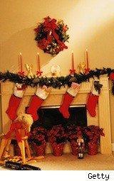 A christmas scene with stockings - smart holiday gifts