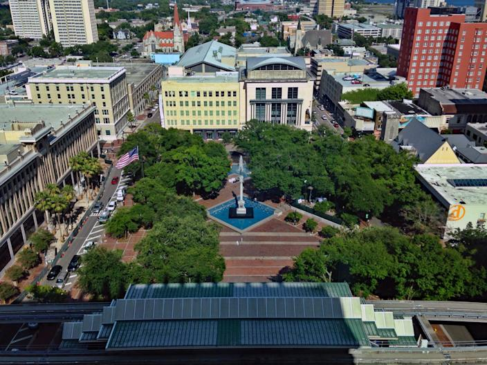 A Confederate statue in Hemming Park in Jacksonville, Fla. (Photo: Wikimedia Commons)