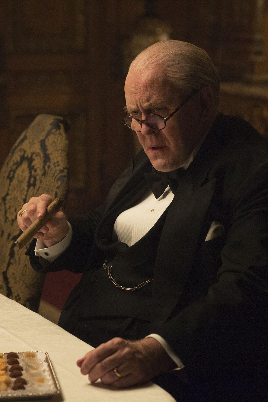 """<p>Lithgow won an Emmy for his portrayal of Prime Minister Winston Churchill, and he used some unusual methods to perfect his performance. """"It was rather repulsive watching me pluck cotton out of my nose after every scene, but they just had to put up with it,"""" he told <a href=""""https://www.usatoday.com/story/life/entertainthis/2017/03/09/john-lithgow-the-crown-netflix/98970614/"""" rel=""""nofollow noopener"""" target=""""_blank"""" data-ylk=""""slk:USA Today"""" class=""""link rapid-noclick-resp""""><em>USA Today</em></a> about mimicking Churchill's nasally voice.</p>"""