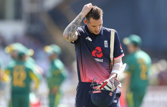 Alex Hales was dropped from England's World Cup squad (Martin Rickett/PA)