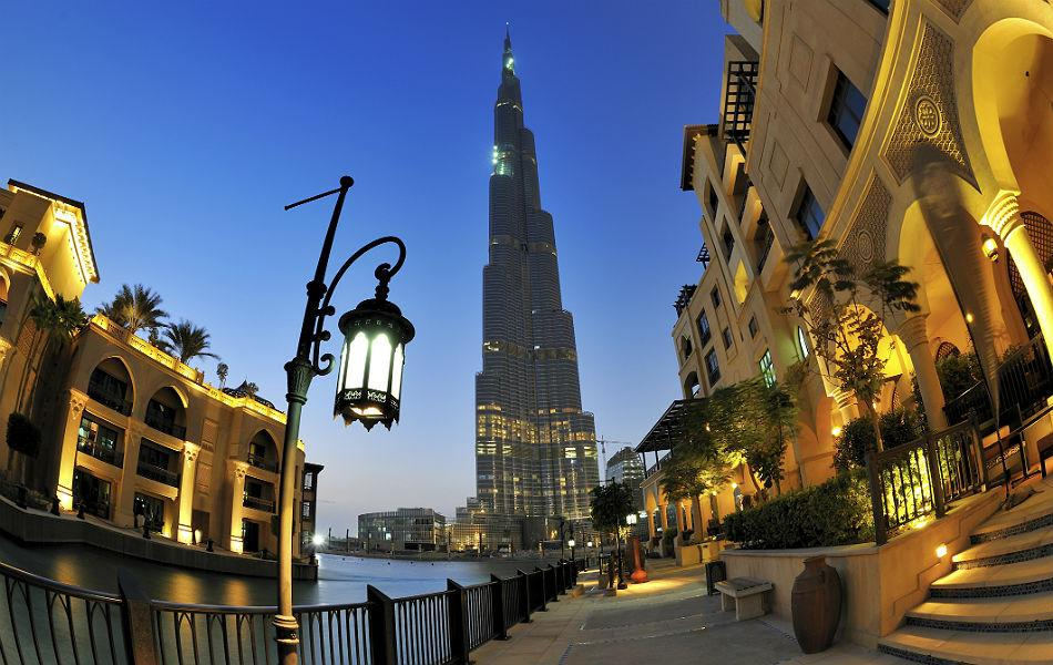 The Burj Khalifa in Dubai was built in 2010. It is 828m high, and has 163 floors.