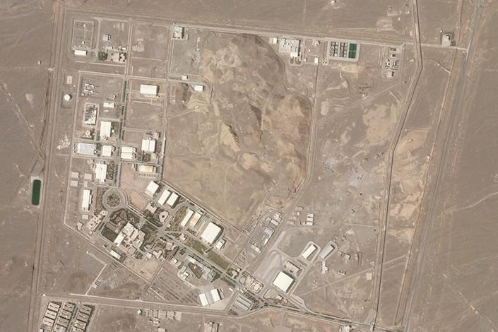 An aerial view of Iran's Natanz nuclear site on April 7.