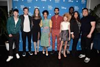 <p>After <em>Black Widow</em>, Phase 4 of the Marvel Cinematic Universe will continue later in 2021 with <em>Eternals</em>. Led by an ensemble cast that includes Angelina Jolie, Salma Hayek, Kumail Nanjiani, Brian Tyree Henry, and Richard Madden, the movie follows a race of immortal aliens who've lived undercover among humans for centuries, but have to come out of hiding and join forces to defend Earth from their ancient enemies.</p><p><strong>In theaters November 5.</strong></p>