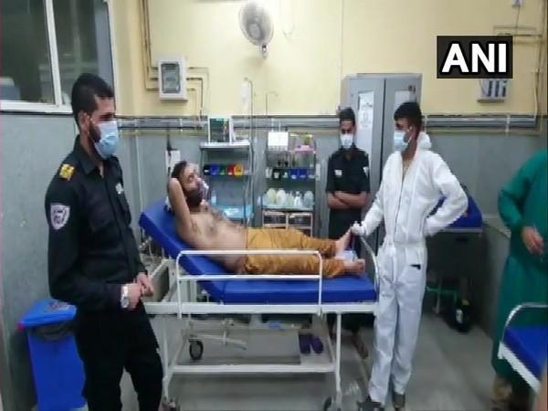 Injured civilians being treated at a hospital in Baramulla (Photo/ANI)