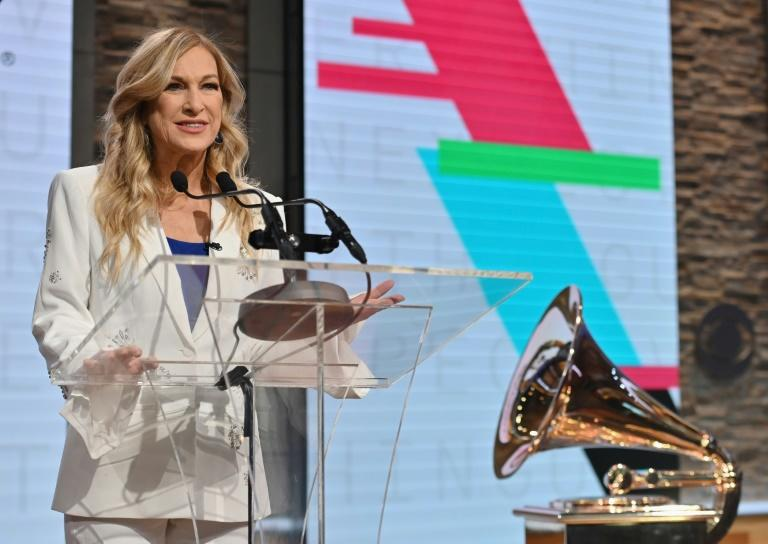 Suspended Recording Academy chief Deborah Dugan, shown here at the unveiling of the 2020 Grammy nominations, revealed scandalous allegations days before the gala