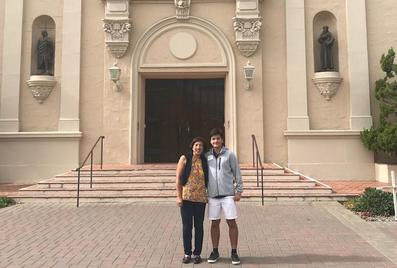Will Follana applied and got in early decision to Santa Clara University in Silicon Valley. He got a chance to visit campus with his mom last fall.