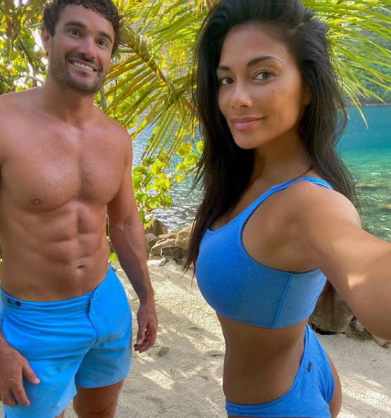 Nicole is holidaying in St. Lucia with her boyfriend, Thom Evans. Photo: Instagram/nicolescherzinger.