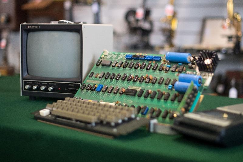 An antique Apple Computer 1 from 1976, one of just eight still working, fetched 110,000 euros at auction in Germany, below a forecast price of between 180,000 and 300,000 euros