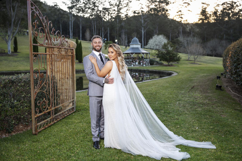Josh and Cathy on their wedding day on MAFS