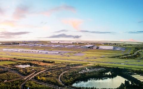 An artist's impression of an expanded Heathrow airport - Credit: Grimshaw Architects