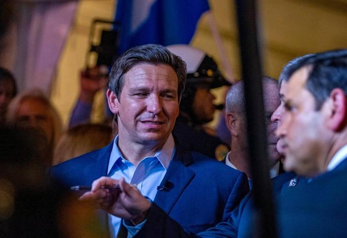 Florida Gov. Ron DeSantis and Sen. Marco Rubio joined Fox News host Sean Hannity during a GOP town hall on Cuba broadcast live from Versailles Restaurant in Miami on Wednesday, July 21, 2021, as Cuban Americans held a rally in support of protesters in Cuba who took to the streets in the island calling for freedom and the end of the regime.