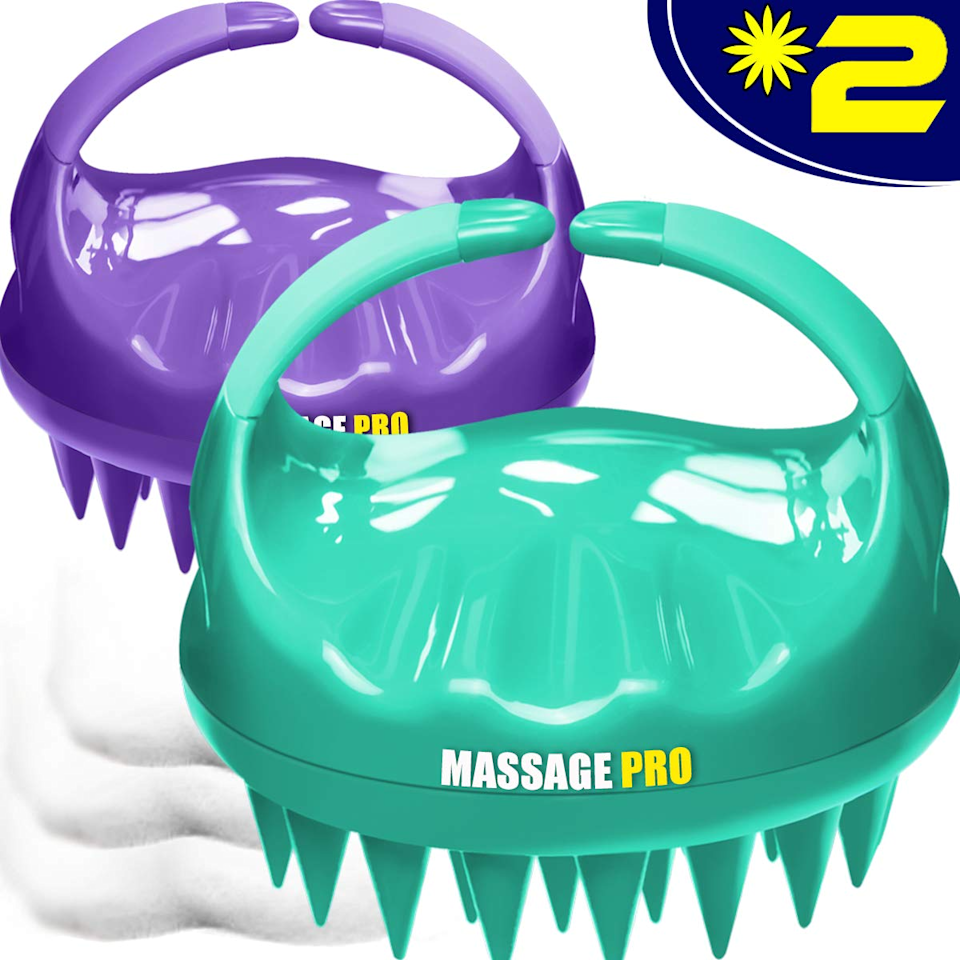 """<h3><a href=""""https://amzn.to/3mZOmUD"""" rel=""""nofollow noopener"""" target=""""_blank"""" data-ylk=""""slk:Scalp Massager"""" class=""""link rapid-noclick-resp"""">Scalp Massager</a></h3><br><strong>Olivia</strong><br><br><strong>How She Discovered It:</strong> """"Due to Covid, I haven't been able to go to the hair salon recently and I've really been missing the scalp massages my stylist gives me when she washes my hair. I decided to search for a DIY option and thought this pack of 2 handheld massager tools looked like a promising option.""""<br><br><strong>Why It's A Hidden Gem:</strong> """"I used this to scrub my shampoo into my hair and wow it got through my thick hair with ease. The long silicon bristles provided just the right amount of pressure without being harsh. I didn't realize how much tension I was holding in my scalp, but after my shower I felt like I had just been to the spa. """"<br><br><br><strong>Cbiumpro</strong> Scalp Massager, 2 Pack, $, available at <a href=""""https://amzn.to/3mZOmUD"""" rel=""""nofollow noopener"""" target=""""_blank"""" data-ylk=""""slk:Amazon"""" class=""""link rapid-noclick-resp"""">Amazon</a>"""