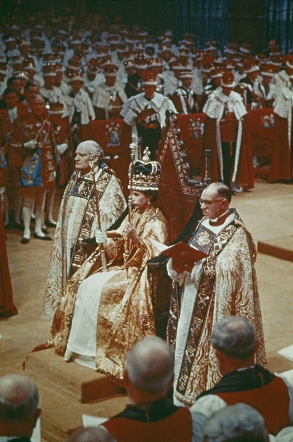 <p> Queen Elizabeth is officially coronated on June 2, 1953.</p>
