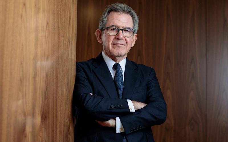 Huawei's UK chairman Lord Browne - Simon Dawson/Bloomberg