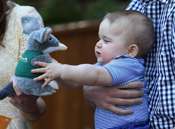 George was delighted with his present during his first royal tour. (Getty Images)