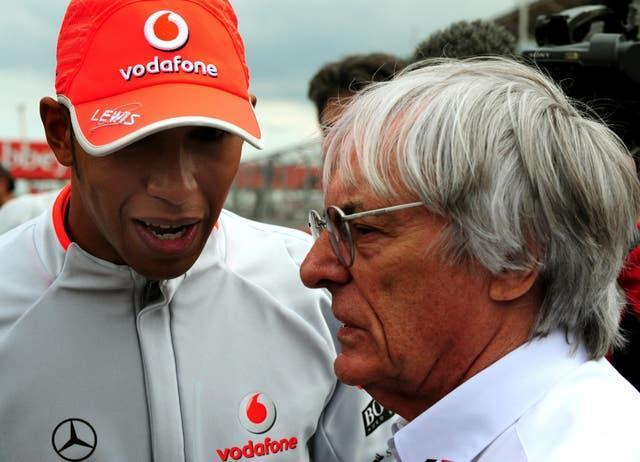 Hamilton and Ecclestone clashed last year following controversial comments the former F1 supremo made in a CNN interview