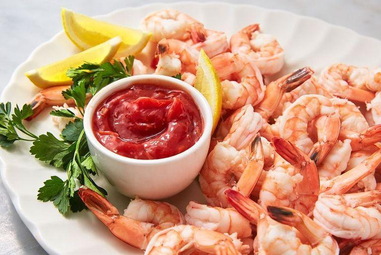 """<p>However old-fashioned it may seem, prawn cocktail is a classic. We've updated this party standby with a zesty homemade sauce that packs a flavourful punch thanks to acidic ketchup, spicy chilli sauce, and salty Worcestershire sauce. The small amount of celery salt ties it all together into a perfect condiment. </p><p>Get the <a href=""""https://www.delish.com/uk/cooking/recipes/a32751677/shrimp-cocktail-recipe/"""" rel=""""nofollow noopener"""" target=""""_blank"""" data-ylk=""""slk:Prawn Cocktail"""" class=""""link rapid-noclick-resp"""">Prawn Cocktail</a> recipe.</p>"""