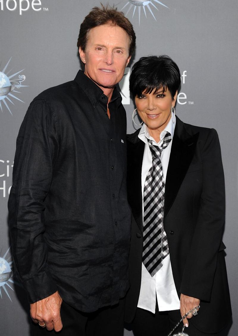 Bruce and Kris Jenner before his transition. Photo: Getty