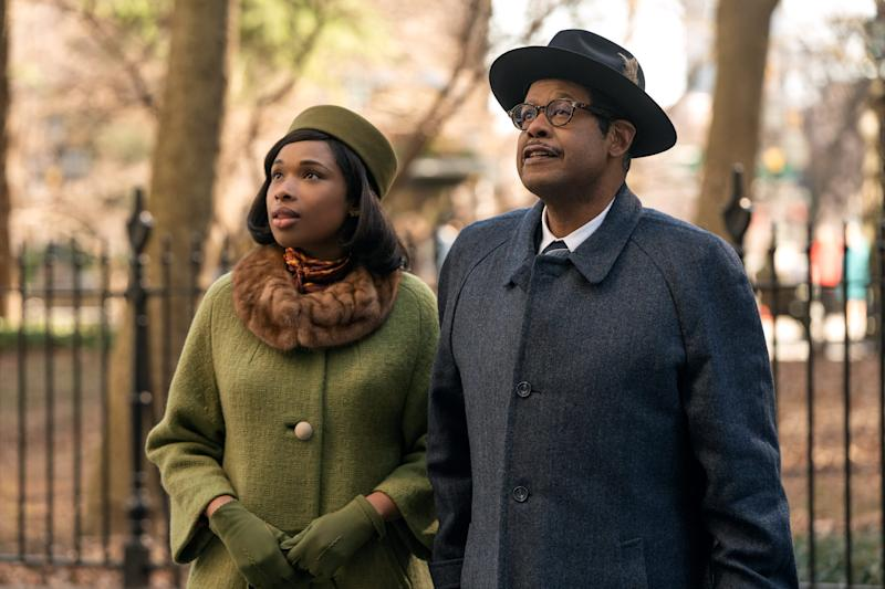 "Jennifer Hudson stars as Aretha Franklin and Forest Whitaker as her father the Rev. C.L. Franklin in the MGM film ""Respect."""