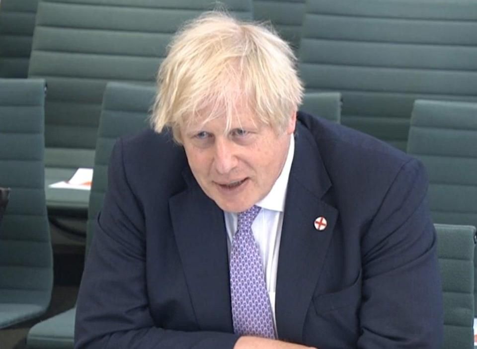 Prime Minister Boris Johnson giving evidence to the Commons Liaison Committee (PA Wire)
