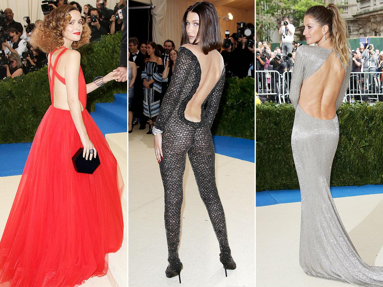 """<p>For this year's Metropolitan Museum of Art Costume Institute Gala theme, <a rel=""""nofollow"""" href=""""http://people.com/style/met-gala-comme-des-garcons-rei-kawakubo-explainer/"""">Rei Kawakubo/Comme des Garçons, </a>stars had a ton of fun with their styles, choosing everything from over-the-top gowns to slinky sheer catsuits. But one thing all the outfits in this gallery have in common? Drop-dead stunning rear views that were a ton of fun to watch walk up those famous Met Gala stairs.</p>"""