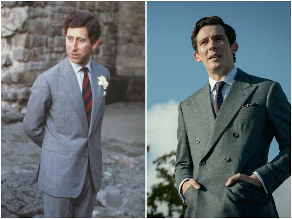 <p>Prince Charles in 1981, Josh O'Connor in 'The Crown' season four</p>Getty Images/Netflix