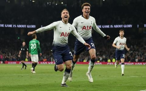 <span>Eriksen scored a stunning late goal to beat Brighton on Tuesday night</span> <span>Credit: GETTY IMAGES </span>